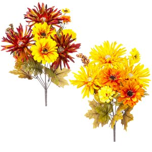 Mum Mixed Assortment Bush Flowers (Set of 6)