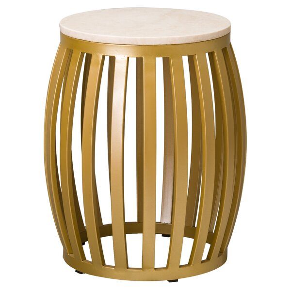 Meridian Accent Stool by Emissary Home and Garden