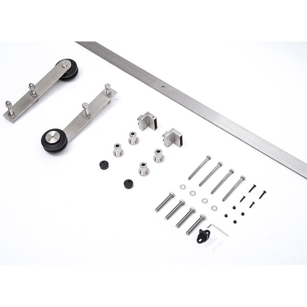 Interior Sliding Barn Door Kit Hardware Set by HomCom