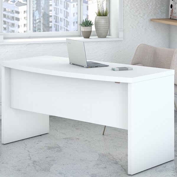 Echo Bow Front 3 Piece L-Shape Desk Office Suite by Kathy Ireland Office by Bush