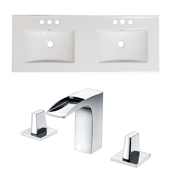 Anirudh Ceramic 59 Double Bathroom Vanity Top