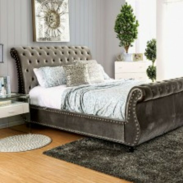 Schofield Contemporary Upholstered Sleigh Bed by Rosdorf Park