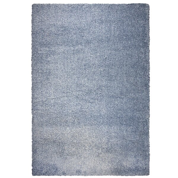Thalia Blue Shag Area Rug by Latitude Run