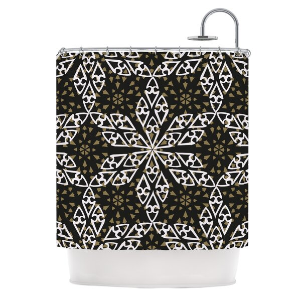 Ethnical Snowflakes Shower Curtain by KESS InHouse