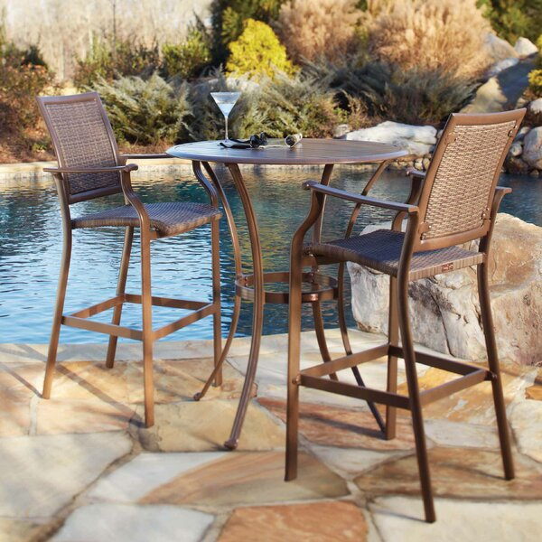 Island Cove 3 Piece Bar Height Dining Set by Panama Jack Outdoor