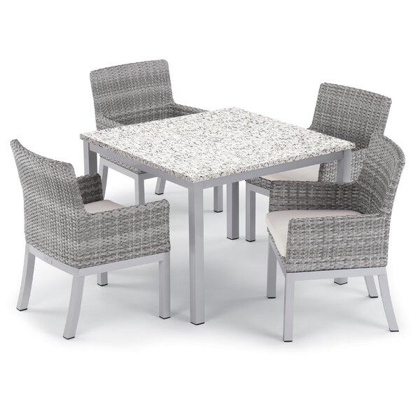 Saleem 5 Piece Dining Set with Cushion by Brayden Studio