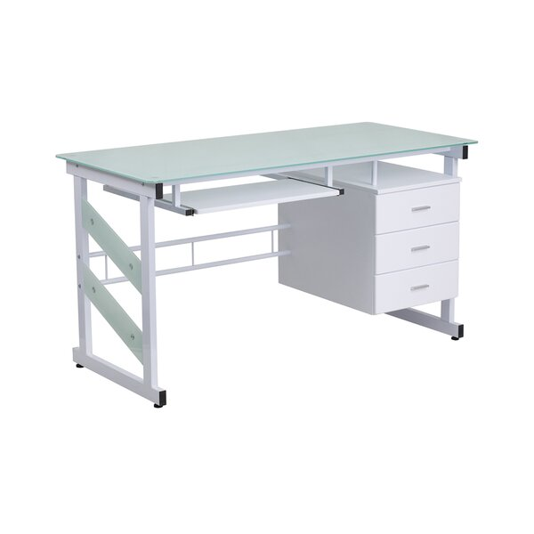Highgate White Desk by Latitude Run