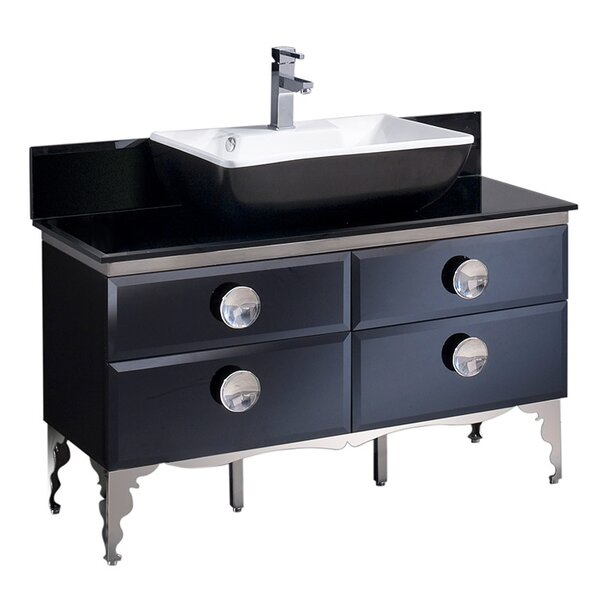 Moselle Glass 47 Single Bathroom Vanity Set by Fresca