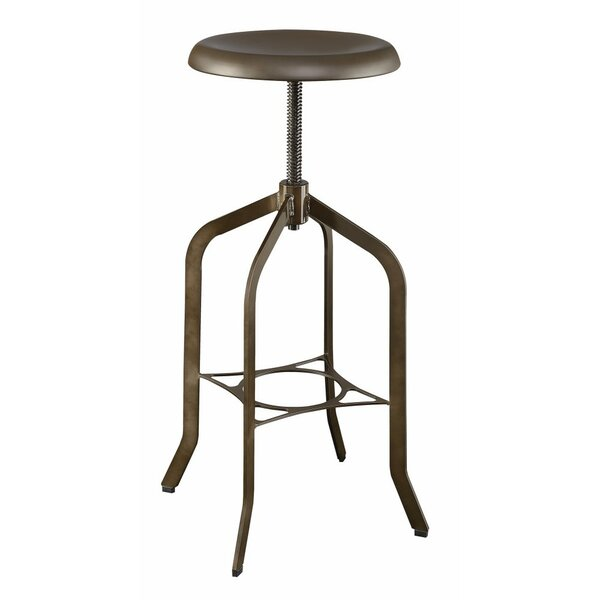 Markenfield Metal Adjustable Height Swivel Bar Stool by Gracie Oaks