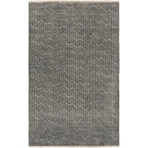 Vichy Hand-Tufted Wool Charcoal Area Rug by DwellStudio