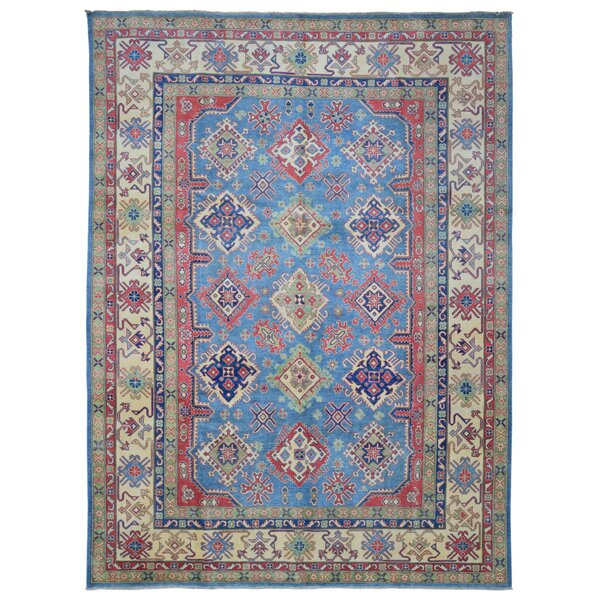Roslyn Hand Woven Wool Blue/Beige Area Rug by Bloomsbury Market