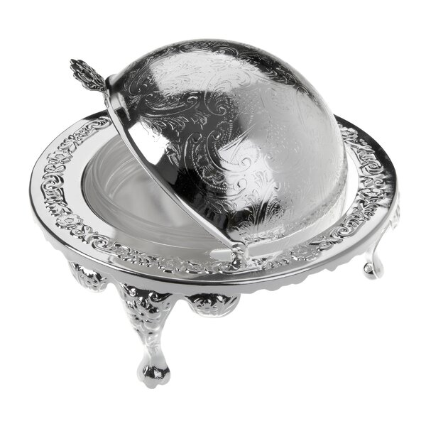 Queen Anne Revolving Butter Dish by Corbell Silver Company