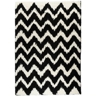 Read Reviews Reynolds Chevron Black Rug By Ebern Designs