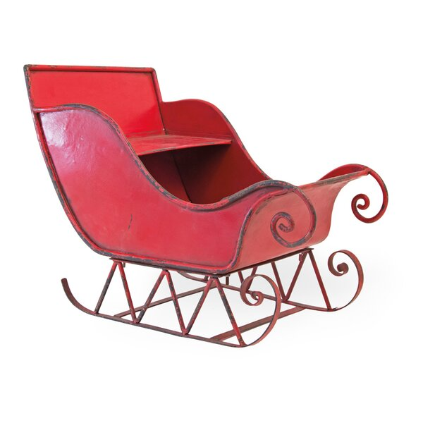 Outdoor Christmas Sleigh For Sale.Large Metal Christmas Sleigh Wayfair