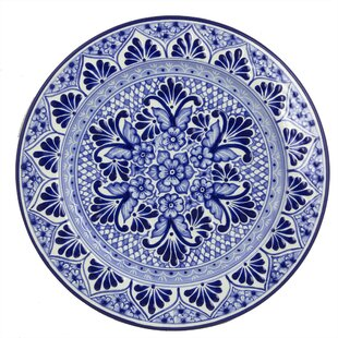Alonso Luis Mexican Authentic Talavera Handcrafted Ceramic Plate  sc 1 st  Wayfair & Mexican Talavera Plates | Wayfair