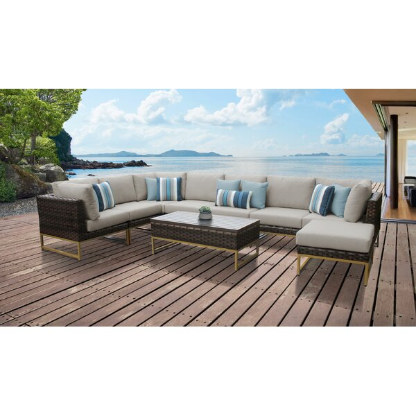 Barcelona 9 Piece Sectional Seating Group with Cushions by TK Classics