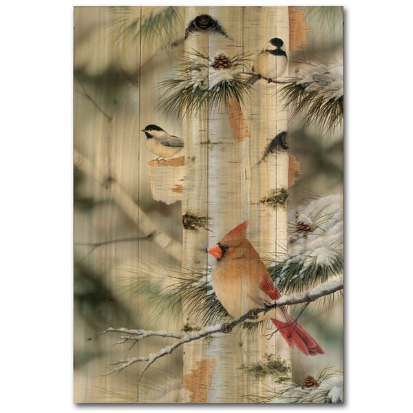 Feathered Friends 2 Painting Print Plaque by WGI-GALLERY