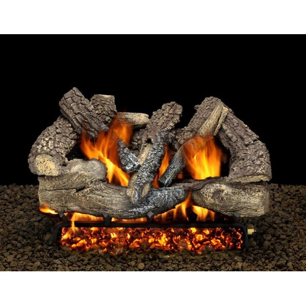 Seville Charred Vented Natural Gas/Propane Fireplace Log Set By American Gas Log