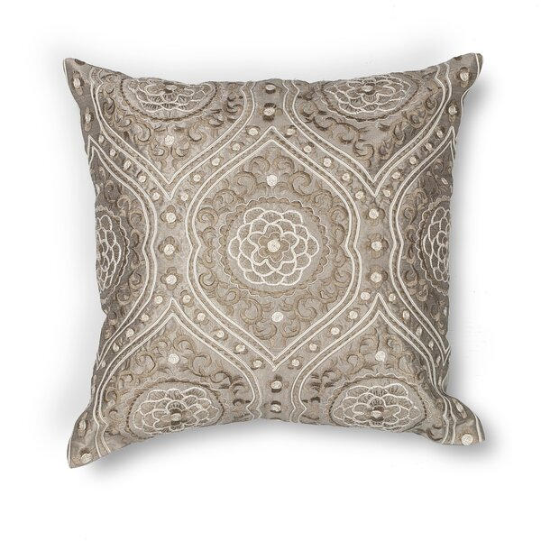 Hedi Damask Throw Pillow by Darby Home Co