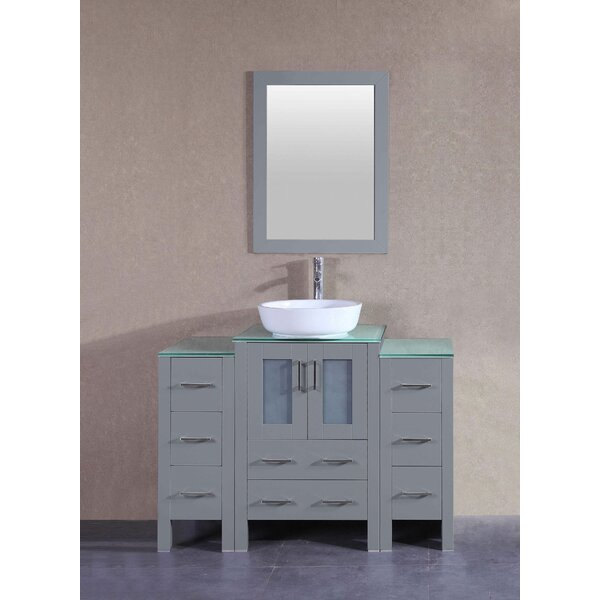 Briella 48 Single Bathroom Vanity Set with Mirror by Bosconi