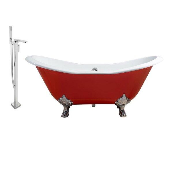 Cast Iron 72 x 31 Clawfoot Soaking Bathtub by Streamline Bath