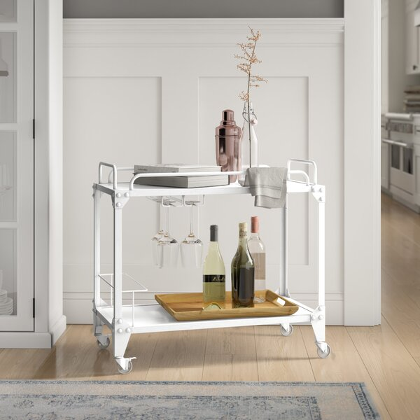 Worthley Mobile Bar Cart By Latitude Run Discount