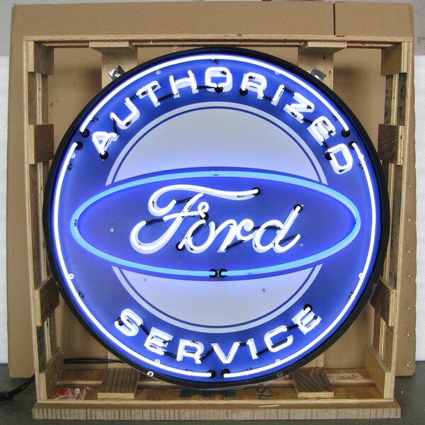 Authorized Ford Service Neon Sign by Neonetics