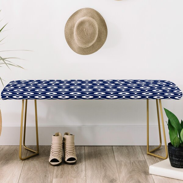 Aimee St Hill Faux Leather Bench by East Urban Home