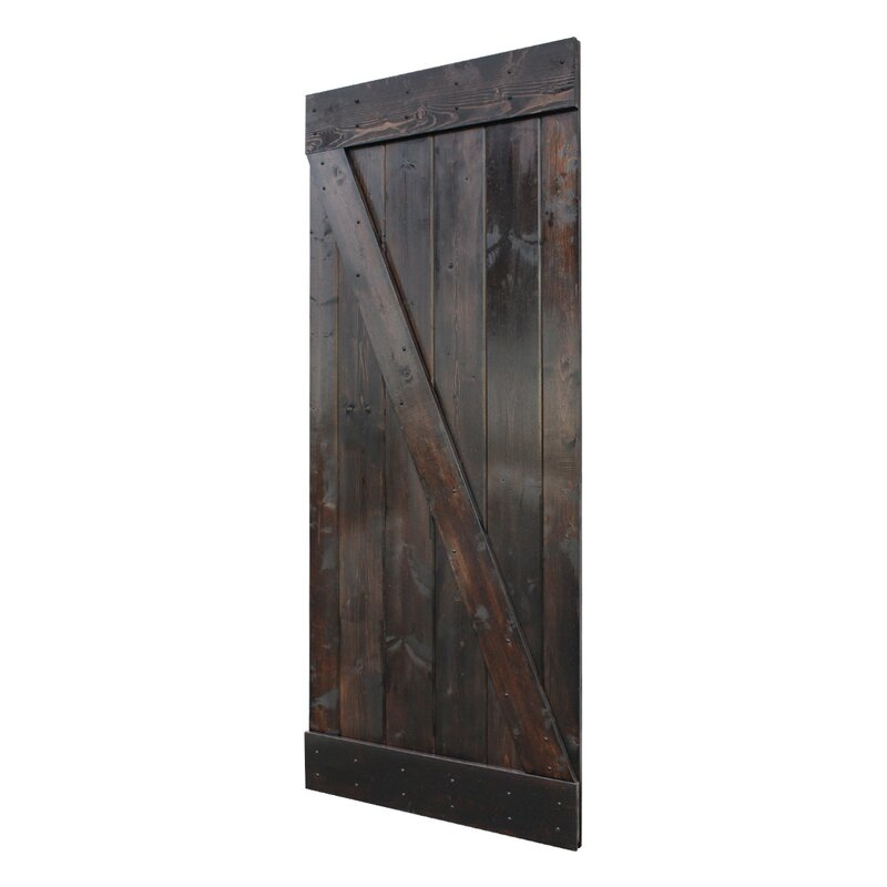Superieur Stain Knotty Pine Sliding Wood Interior Barn Door