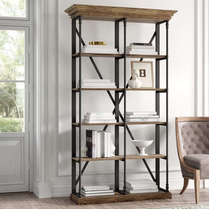 Boyd Etagere Bookcase - you're going to love these furniture and decor pieces Kelly curated for Wayfair! #furniture #frenchcountry #kellyclarksonhome #bookshelves #etageres