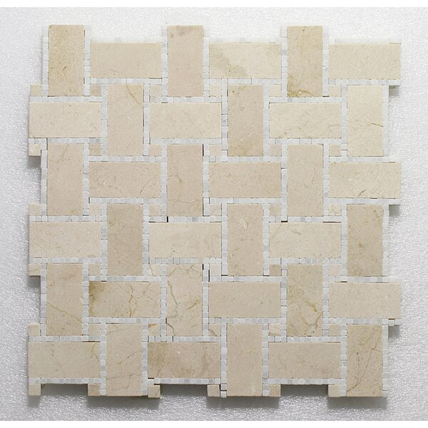 B.View Micro C.Marfil Pure P. Wall 12X12 Natural Stone Mosaic Tile in Beige by Seven Seas