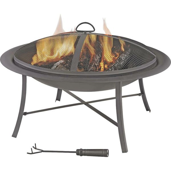 Steel Wood Burning Fire Pit by Mintcraft