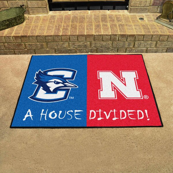 House Divided - Creighton / Nebraska Doormat by FANMATS