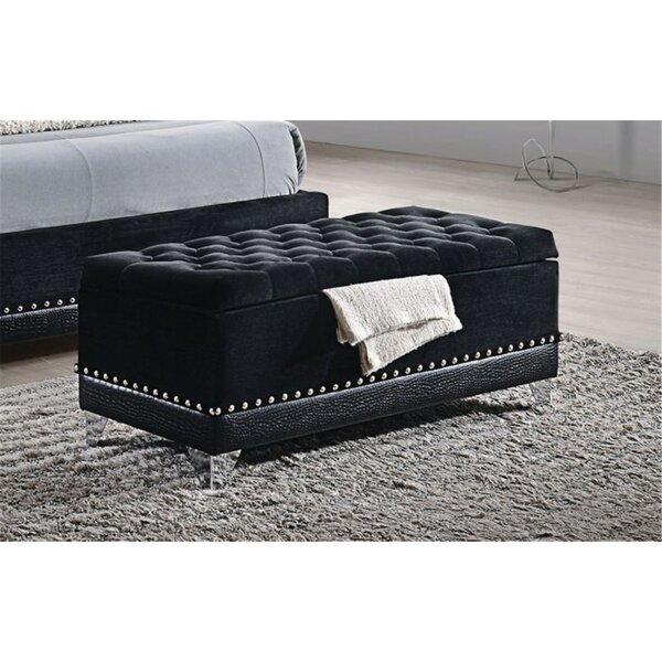 McManus Upholstered Storage Bench by Rosdorf Park