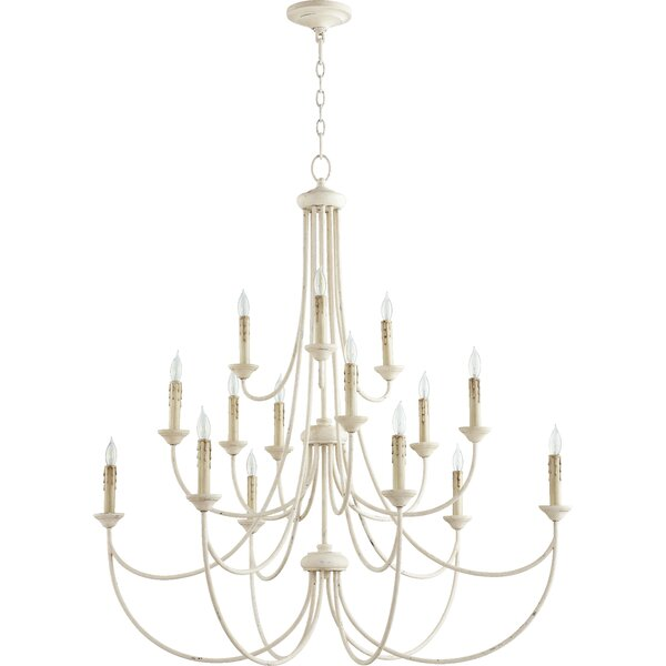 Polito 15 - Light Candle Style Tiered Chandelier by Alcott Hill Alcott Hill
