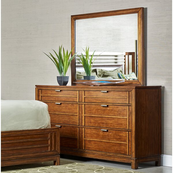 Leonid 6 Drawer Double Dresser with Mirror by Charlton Home