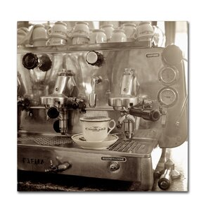 'Tuscany Caffe I' Photographic Print on Wrapped Canvas by Trademark Fine Art