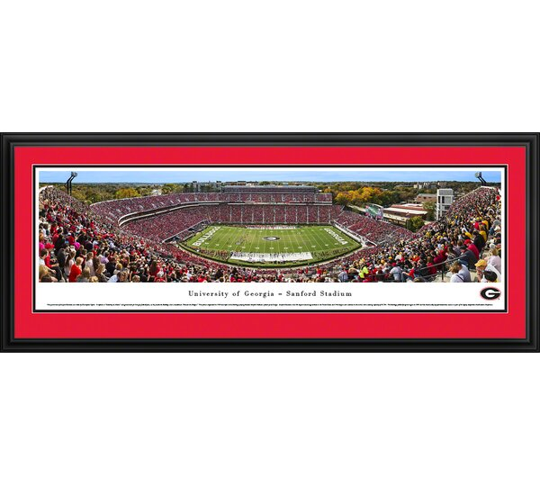 NCAA Georgia, University of - 50 Yard Line - Day by Christopher Gjevre Framed Photographic Print by Blakeway Worldwide Panoramas, Inc