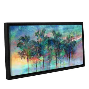 'Palmae Reflections Top' Framed Graphic Art by Beachcrest Home