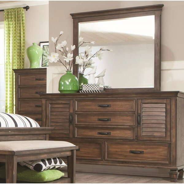 Dorrington Dresser with Mirror by Beachcrest Home