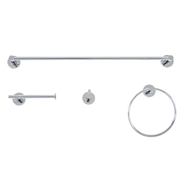 Venezia 4 Piece Bathroom Hardware Set by Italia