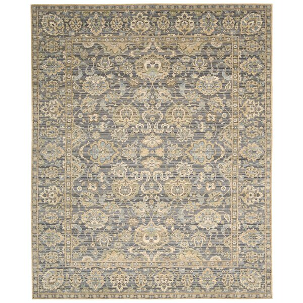 Gaunt Opalescent Gray Area Rug by Darby Home Co