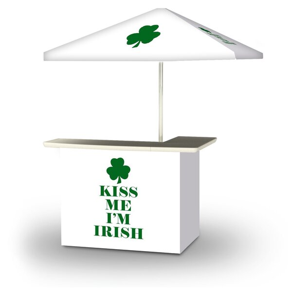 Zettie St Patricks Day Kiss Me Im Irish 2-Piece Home Bar Set by East Urban Home