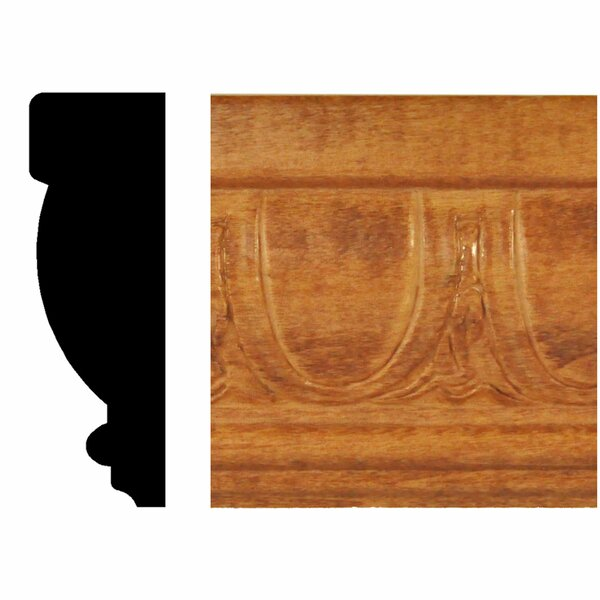 13/16 in. x 2-1/2 in. x 8 ft. Hardwood Stained Cherry Egg and Dart Chair Rail Moulding by Manor House