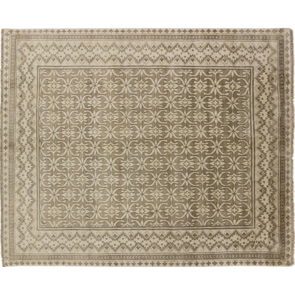 One-of-a-Kind Viscose Hormizd Hand-Knotted Brown Area Rug by Noori Rug