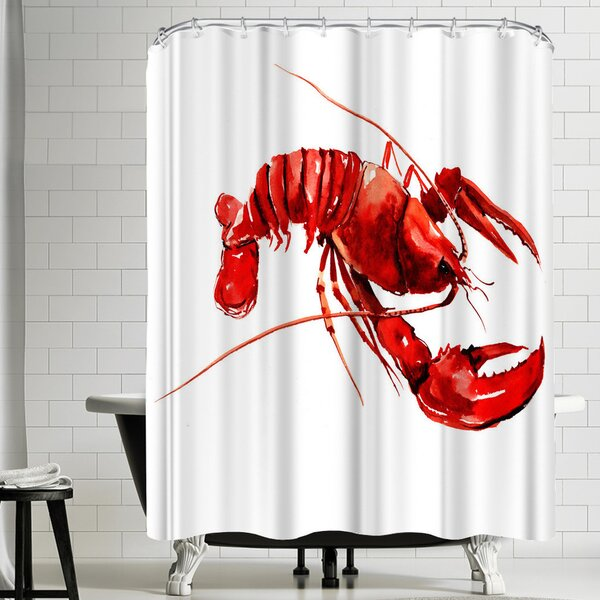 Suren Nersisyan Lobster Shower Curtain by East Urban Home