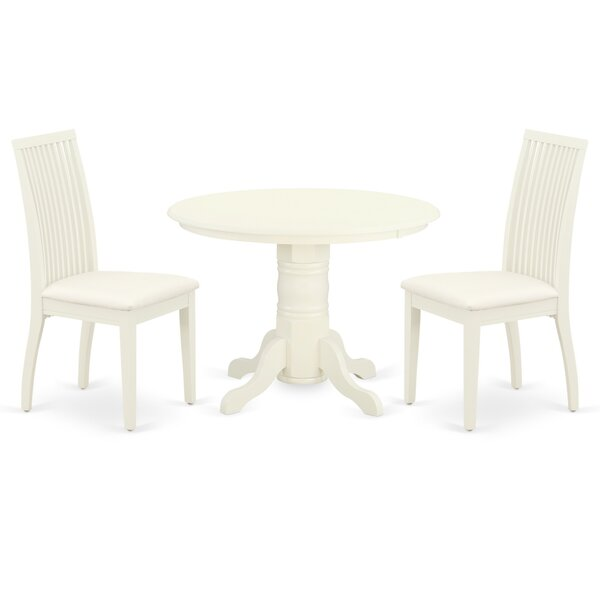 Donna 3 Piece Solid Wood Breakfast Nook Dining Set by Rosecliff Heights Rosecliff Heights