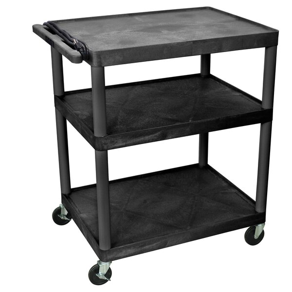 AV Cart with 3 Shelves by Offex