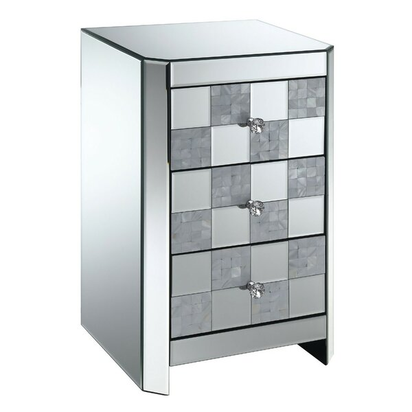 Montclair 3 Drawer Mirrored End Table With Storage By Rosdorf Park