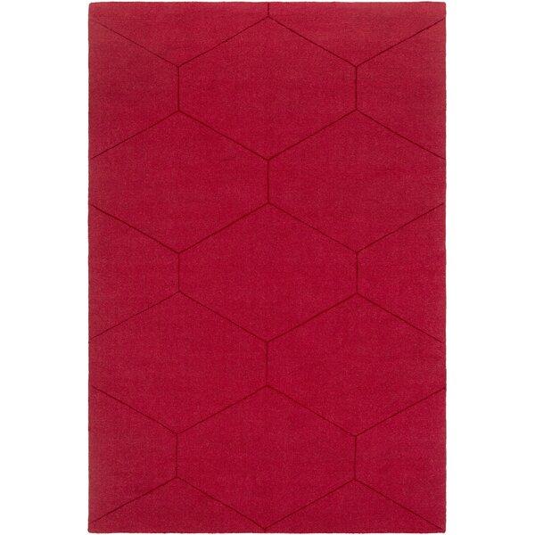 Wrought Studio Pulcova Wool Dark Red Area Rug Reviews Wayfair